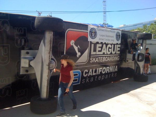 World Record Skateboard